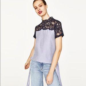 Zara Lace Side-Tie Top